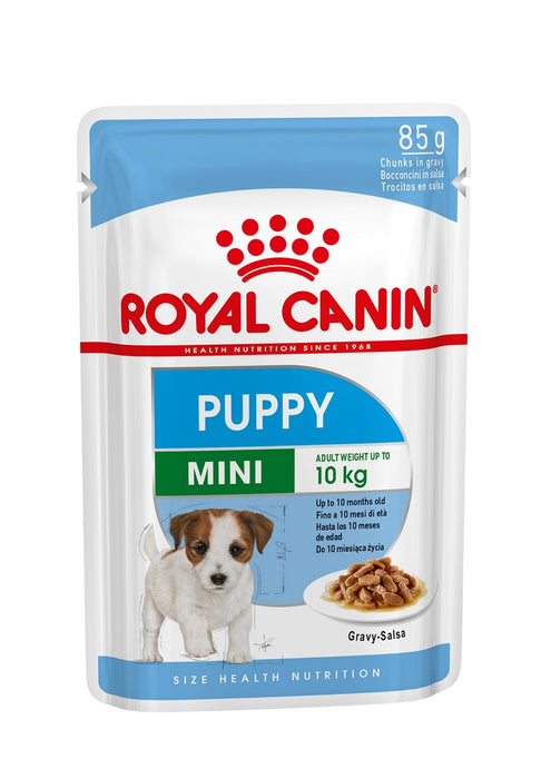Royal Canin Mini Puppy In Gravy Wet Dog Food - 12 x 85g (Pack of 2) - PetMonkey