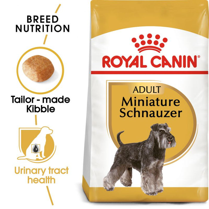 Royal Canin Miniature Schnauzer Adult Dry Dog Food - 3kg - PetMonkey