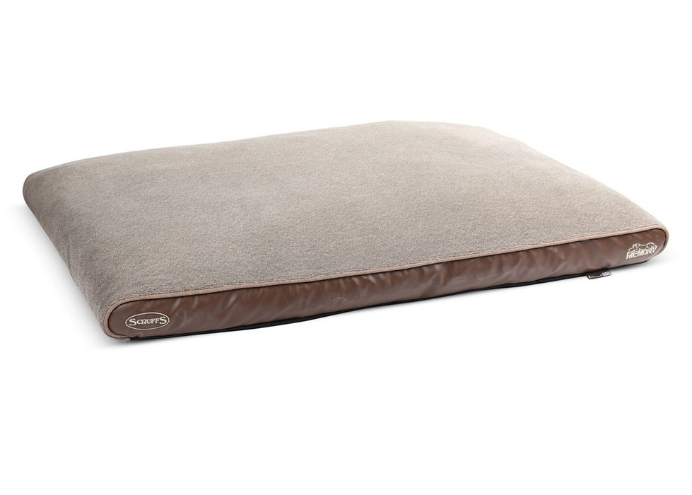 Scruffs Chateau Short Plush Mattress Dog Bed - Latte - L - PetMonkey