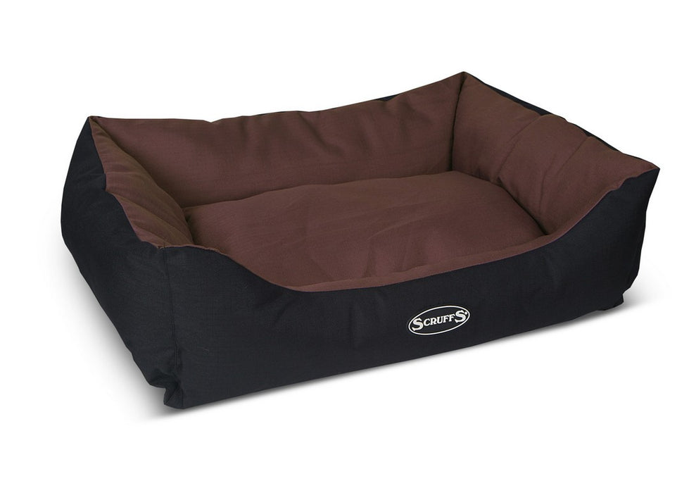 Scruffs Expedition Box Dog Bed - Chocolate - L - PetMonkey