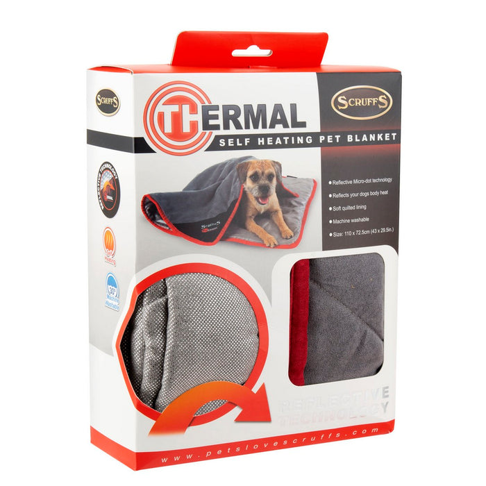 Scruffs Thermal Dog Blanket - Black - PetMonkey