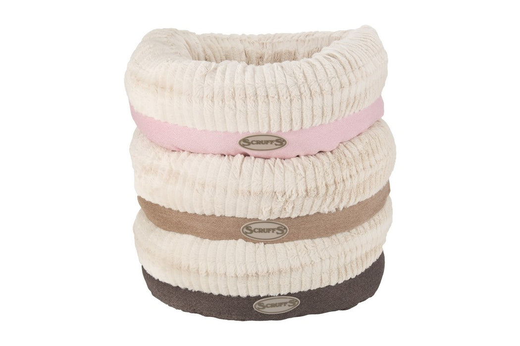 Scruffs Ellen Donut Dog Bed - Tan - L - PetMonkey