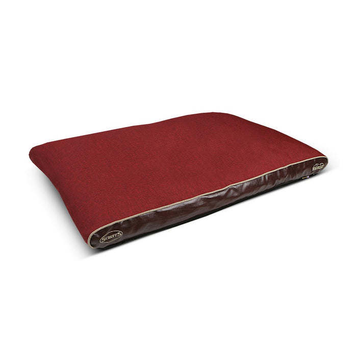 Scruffs Hilton Orthopaedic Dog Bed - Burgundy - L - PetMonkey