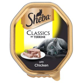 Sheba Classics Cat Food In Terrine - With Chicken - 22 x 85g - PetMonkey