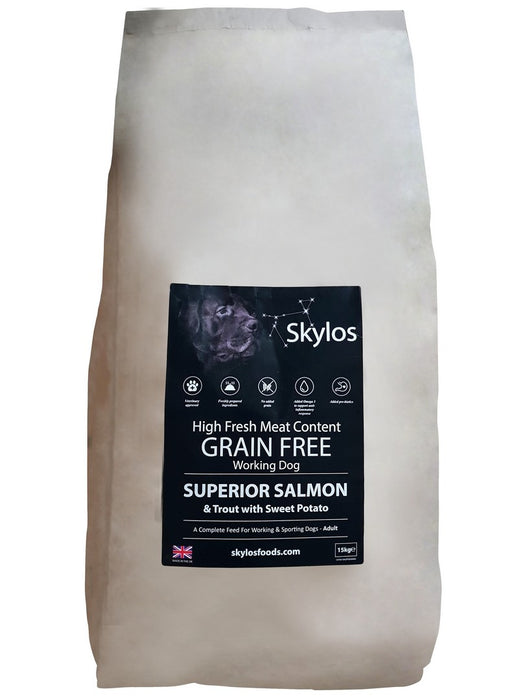 Skylos Grain Free Superior Dog Food - Salmon & Trout -15kg - PetMonkey