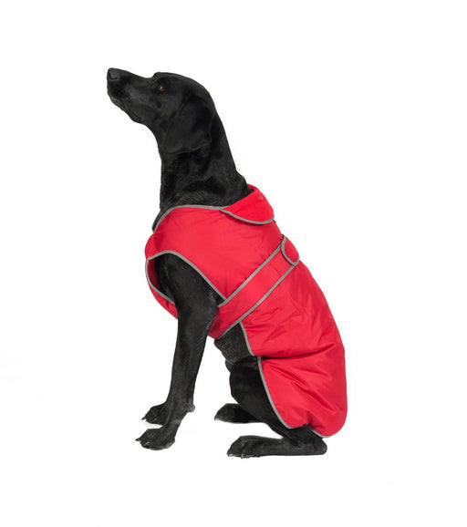 Ancol Stormguard Fleece Dog Coat - Red / Navy / Chocolate / Pink / Yellow - PetMonkey