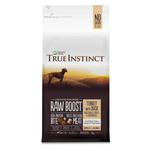 True Instinct Raw Boost Adult Dry Dog Food - Turkey with Duck - 5kg - PetMonkey
