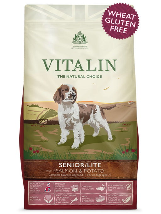 Vitalin Senior / Lite Dry Dog Food - Salmon & Potato - 12kg - PetMonkey