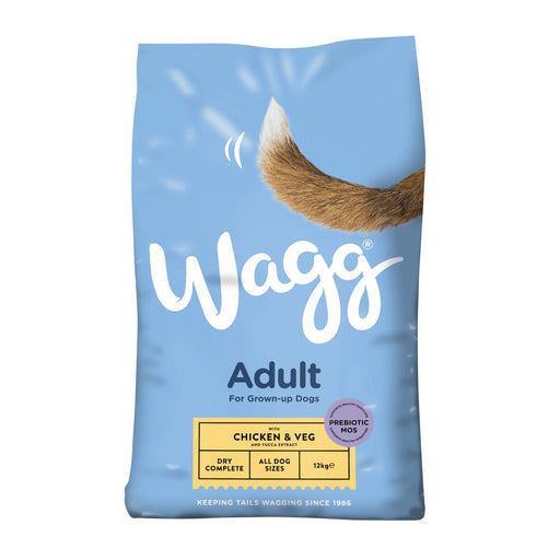 Wagg Adult Complete Dry Dog Food - Chicken & Veg - 12kg - PetMonkey