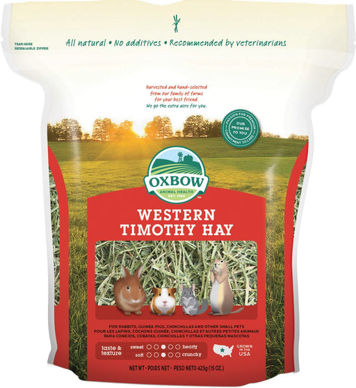 Petlife Oxbow Western Timothy Hay Small Pet Food - 425g / 1.1kg / 2.55kg / 4.05kg - PetMonkey