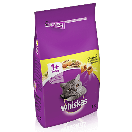 Whiskas 1+ Cat Complete Dry Cat Food - Chicken - 2kg - PetMonkey