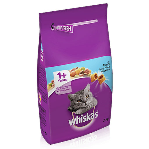Whiskas 1+ Cat Complete Dry Cat Food - Tuna - 2kg - PetMonkey