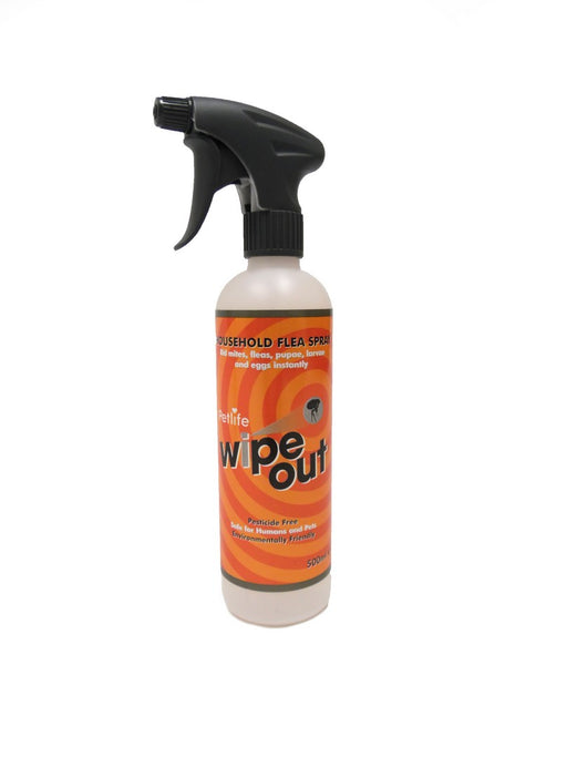 Petlife Wipe Out Household Flea Spray - 500ml - PetMonkey