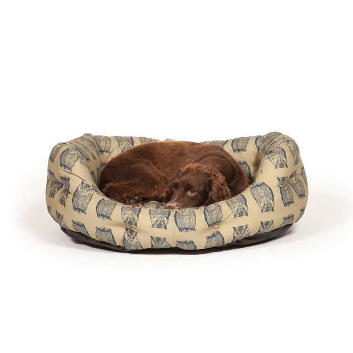 Danish Design Deluxe Woodland Slumber Dog Bed - Owl - L - PetMonkey