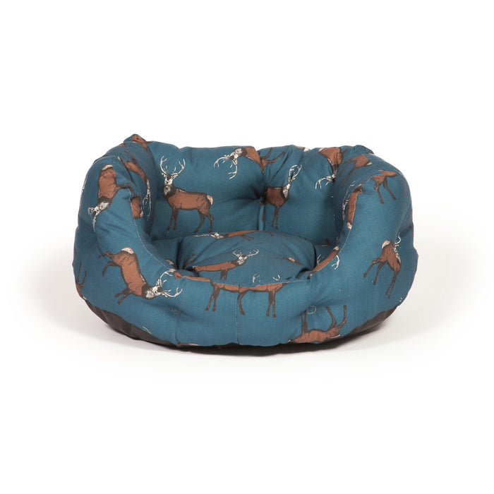 Danish Design Deluxe Woodland Slumber Dog Bed - Stag - S - PetMonkey