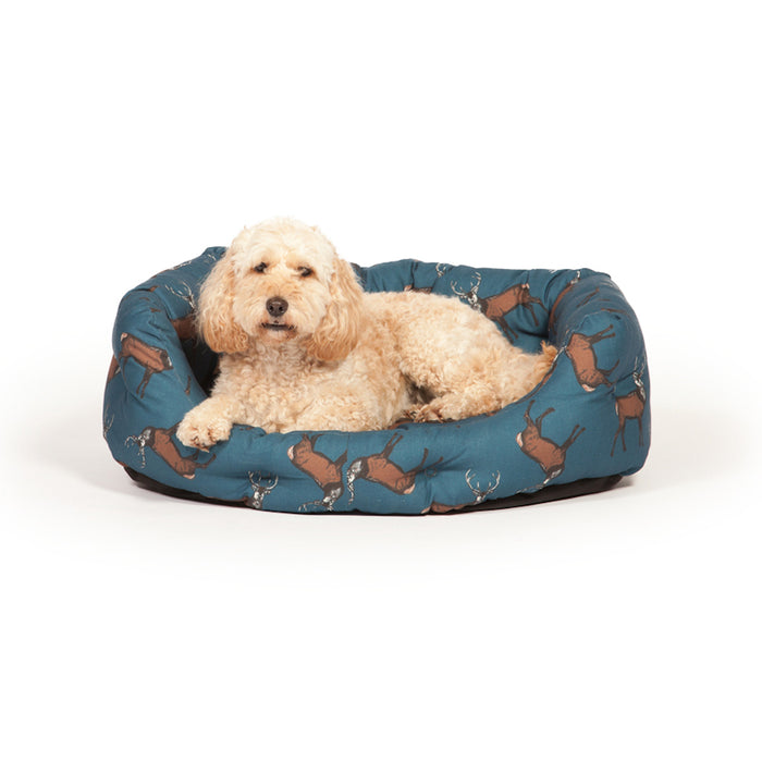 Danish Design Deluxe Woodland Slumber Dog Bed - Stag - XL - PetMonkey