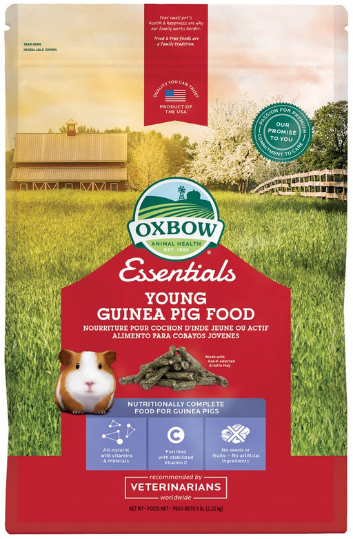 Petlife Oxbow Essentials Young Guinea Pig Food - 2.2kg / 4.5kg - PetMonkey