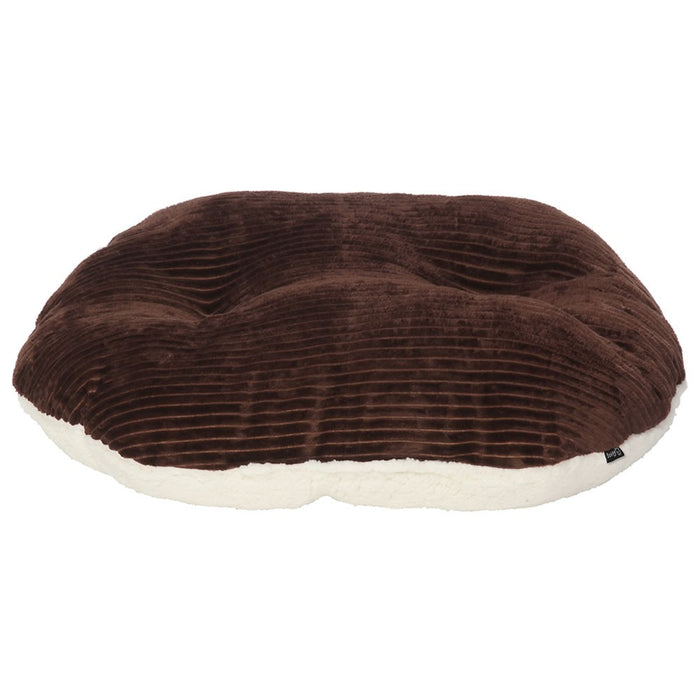 Bunty Chester Oval Fleece Dog Bed - L - PetMonkey