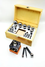 Load image into Gallery viewer, Dapping 26-Punch and Block Set, wooden box