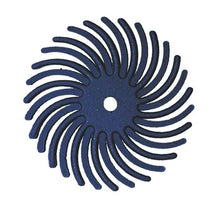 "Load image into Gallery viewer, Sunburst® Radial Bristle Discs, 7/8"", blue - 400 grit, pkg 12"