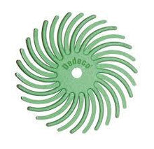 "Load image into Gallery viewer, Sunburst® Radial Bristle Discs, 7/8"", green - 1 micron, pkg 12"