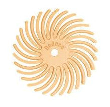 "Load image into Gallery viewer, Sunburst® Radial Bristle Discs, 7/8"", peach - 6 micron, pkg 12"