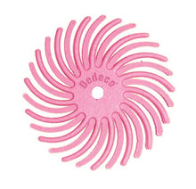 "Load image into Gallery viewer, Sunburst® Radial Bristle Discs, 7/8"", pink - 600 grit/pumice, pkg 12"