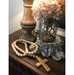 Large Decorative Wooden Rosary
