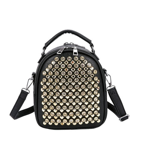 PU Leather Multifunctional Studs Backpack