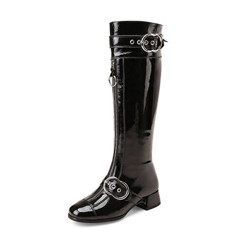 Genuine Leather Knee High Boots