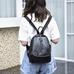 Genuine Cow Leather Patchwork Backpack