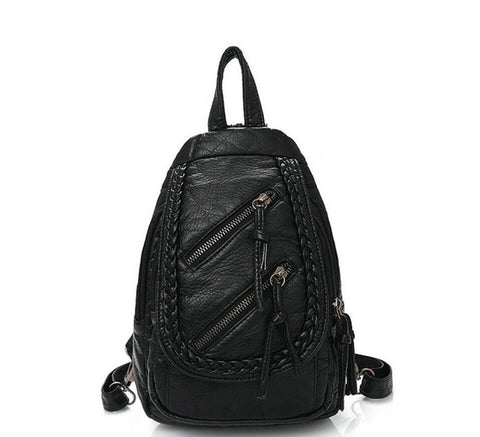 PU Leather Chest Backpack