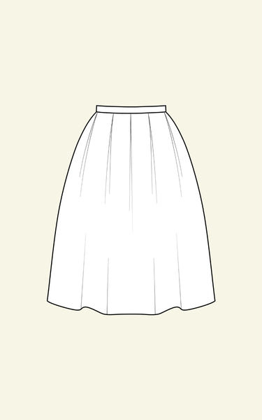 BIG PLEATED SKIRT