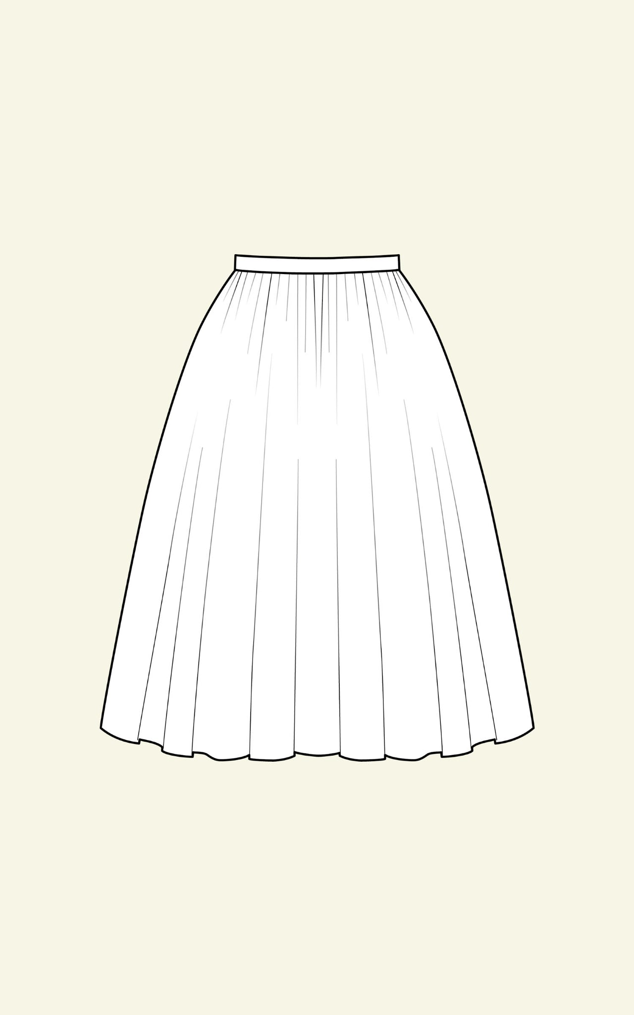 FULL GATHERED SKIRT