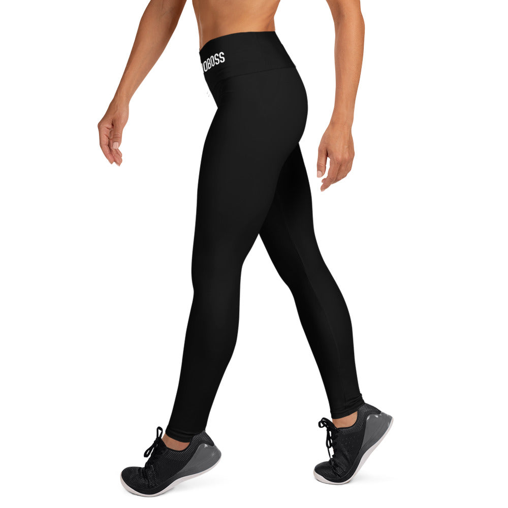 #WOMENWHOBOSS HIGH-WAIST PANTS (BLACK)