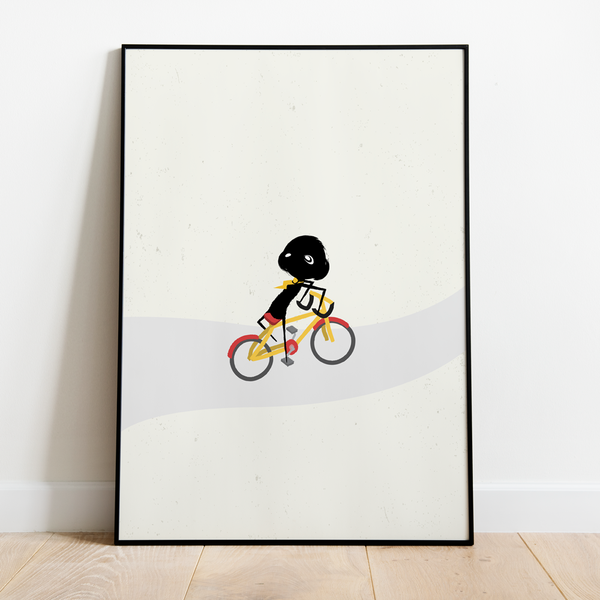 Wall Art - clclcloud: bicycle backwards