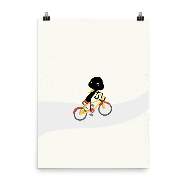 Art Print - clclcloud: bicycle backwards