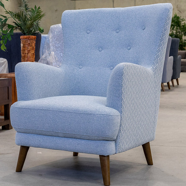 Zoe Accent Chair Polar Sky