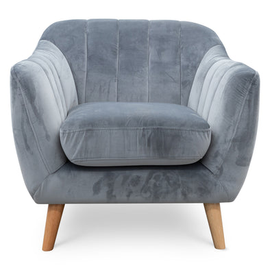 Pearl Accent Chair- Future Grey Velvet - Warehouse Furniture Clearance