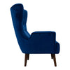 Sebastian Accent Chair – Navy Velvet - Warehouse Furniture Clearance
