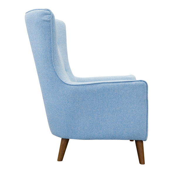 Lily Accent Chair - Sky Blue - Warehouse Furniture Clearance