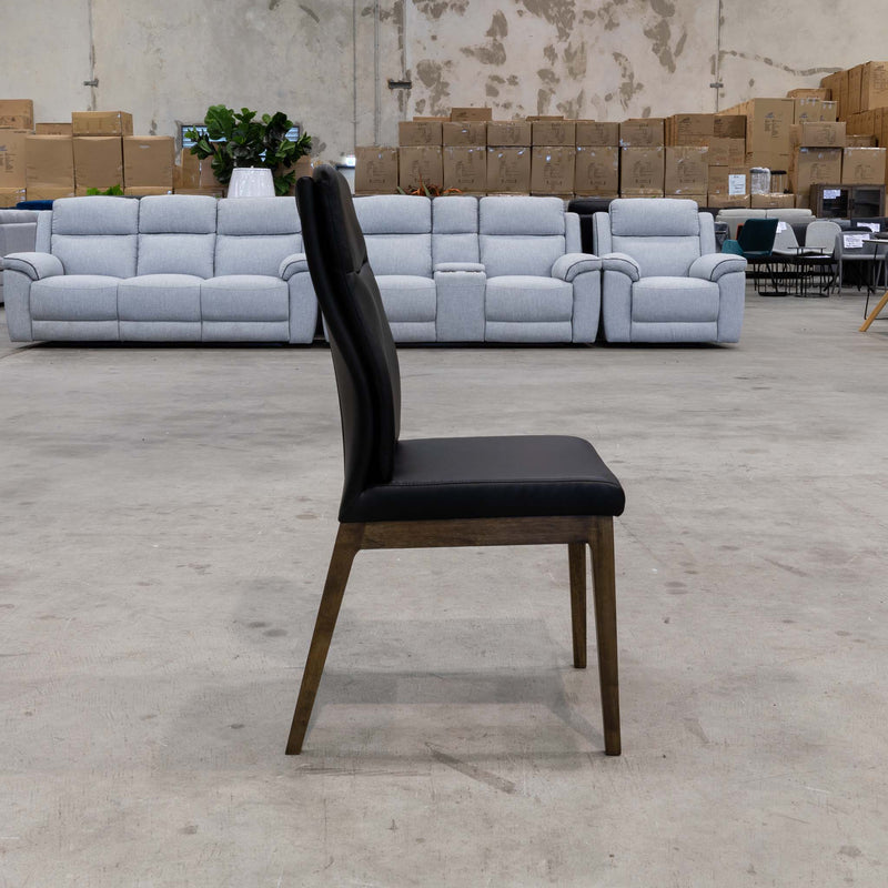 Belvedere Dining Chair Smoke - Black - Warehouse Furniture Clearance