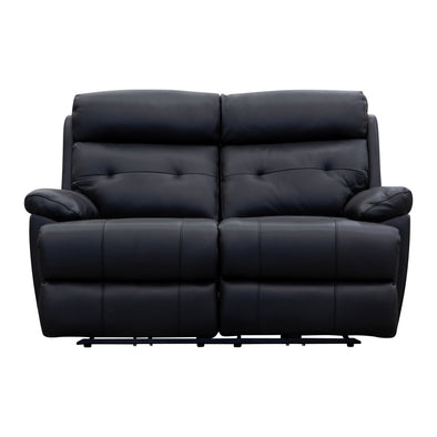 Bondi Electric Two Seater - Black Leather - Warehouse Furniture Clearance
