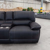 Capri Modular Corner Lounge - Jet - Warehouse Furniture Clearance