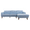 Chanel Chaise Lounge - Sky - Warehouse Furniture Clearance