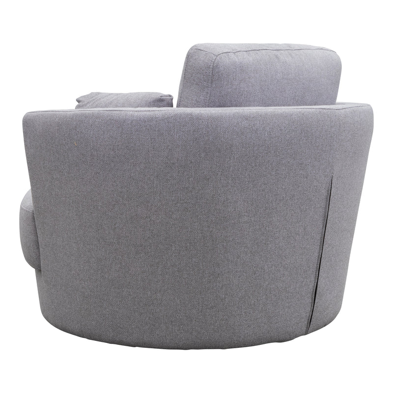 Cooper Swivel Chair - Silver - Warehouse Furniture Clearance