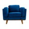 Delilah Armchair - Navy Velvet - Warehouse Furniture Clearance