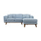 Delilah Chaise Lounge - Sky - Warehouse Furniture Clearance