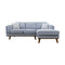 Delilah Chaise Lounge - Haze - Warehouse Furniture Clearance