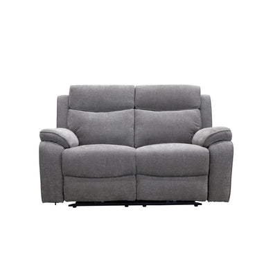 Estelle Two Seater Electric Recliner Lounge - Alloy - Warehouse Furniture Clearance